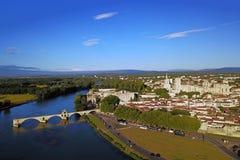 Avignon Frankrike - antenn Fotografering för Bildbyråer