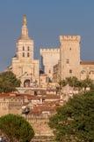 Avignon gammalt centrum med påveslotten i Provence, Frankrike Royaltyfria Bilder