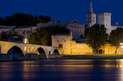 Avignon at night Stock Photography