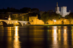 Avignon at night Stock Image