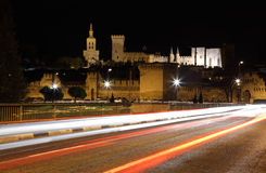 Avignon at night, France Stock Images