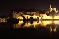 Avignon at night, France Royalty Free Stock Photos