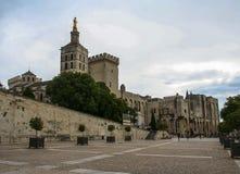 Avignon påvlig slott Royaltyfri Bild