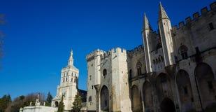 Avignon Palace. Palais des Papes and the Cathedral Notre-Dame des Doms in Avignon, France Stock Photos