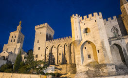 Avignon, Palais des Papes by night Royalty Free Stock Photography
