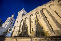 Avignon, Palais des Papes by night Stock Image