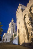 Avignon, Palais des Papes by night Stock Photos
