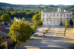 Avignon - Palais des Papes Pausenpaleis in Avignon in een mooie de zomerdag, Frank stock foto