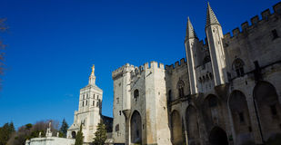 Avignon-Palast Stockfotos