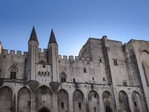Avignon: Paleis van de Pausen royalty-vrije stock foto's