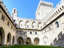 Avignon: Paleis van de Pausen royalty-vrije stock fotografie