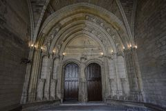 Avignon: Paleis van de Pausen stock foto