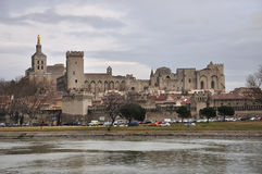 Avignon, Papal palace. In the town of Avignon, in southern France Stock Photo