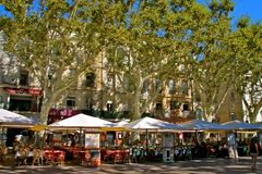 Avignon, Platz de L'Horloge Stockfoto