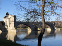 Avignon Pont helgon Benezet - bro, Frankrike Fotografering för Bildbyråer