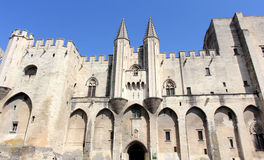 Avignon Pope palace, France. Royalty Free Stock Images