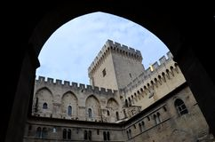Avignon pope palace Royalty Free Stock Photos