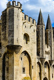 Palace of the Popes. At Avignon, famous christian landmark in France Royalty Free Stock Image