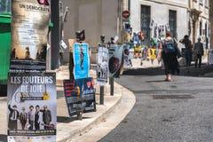 AVIGNON, PROVENCE, FRANÇA - 5 DE JULHO DE 2017: ` Avignon do festival d Fotos de Stock Royalty Free