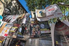 AVIGNON PROVENCE, FRANKRIKE - JULI 5, 2017: ` Avignon för festival D Arkivfoto