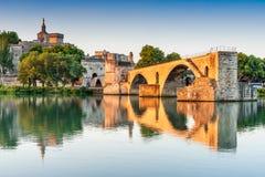 Avignon Provence, Frankrike - Pont helgon-Benezet arkivfoton