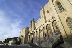 Avignon (Provence, Frankrike), slott av påvarna Royaltyfria Foton