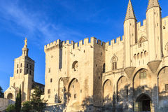 Avignon in Provence - View on Popes Palace. Avignon - View on Popes Palace, Provence, France Stock Photo