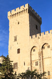 Avignon in Provence - View on Popes Palace Stock Photo