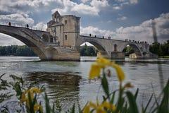 Avignon's bridge stock images