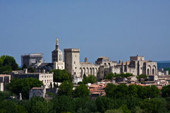 Avignon's Palace of the Popes Stock Photos