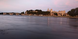 Avignon scenery at sunset Stock Photos
