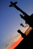 Avignon-Sonnenuntergang stockfotografie
