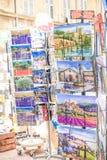Avignon souvenir shoppar Royaltyfria Foton
