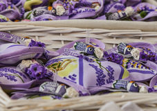Avignon Souvenirs- Little Sacks with Lavender and Cicadas Stock Photography