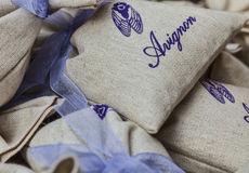 Avignon Souvenirs- Little Sacks With Lavender Royalty Free Stock Images