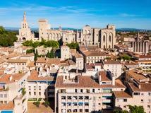 Avignon-Stadtvogelperspektive, Frankreich lizenzfreie stockfotos