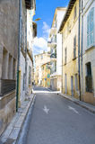 Avignon Street in Yellow and Turquoise, France Stock Images