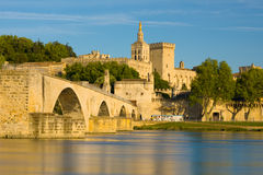 Avignon in a summer evening Royalty Free Stock Images