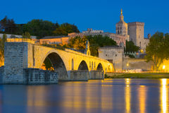 Avignon in a summer night Royalty Free Stock Image