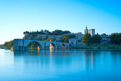 Avignon at sunrise Royalty Free Stock Photo