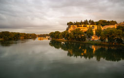 Avignon at sunset, France Royalty Free Stock Images