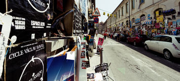 Avignon theatre festival posters stock images