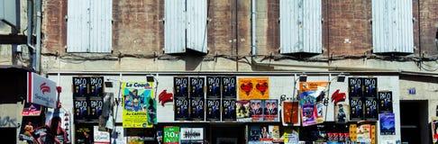 Avignon theatre festival posters stock image