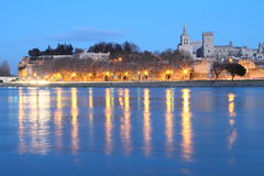 Avignon at twilight Royalty Free Stock Photo