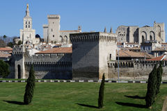 Avignon walls and historic center Royalty Free Stock Image