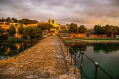 Avignone al tramonto, Francia Fotografia Stock Libera da Diritti