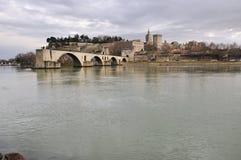 Avignons Brücke, Pont d'Avignon Stockfotos