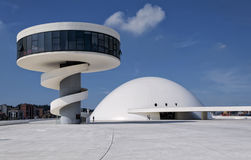 Avilés. Niemeyer museum from Avilés (Asturias Stock Images
