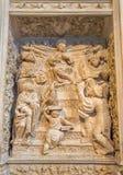 Avila - η ανακούφιση δώδεκα ο παλαιός Ιησούς στο ναό στην αναγέννηση transchoir Catedral de Cristo Σαλβαδόρ από 16 σεντ Στοκ Εικόνες