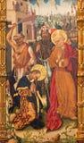 Avila - η ζωγραφική Decapitation του ST Paul και του ST Peter στο δεσμό από το Fernando Gallego 15 σεντ σε Catedral Στοκ φωτογραφία με δικαίωμα ελεύθερης χρήσης